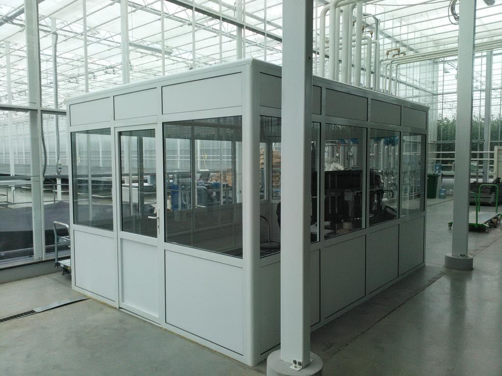 Алюминиевые перегородки в Липецке для склада и производственных помещений.